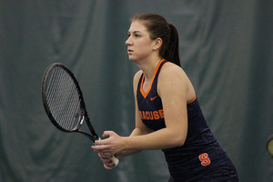 Anna Shkudun's season came to an end with a straight-set loss to Virginia's Danielle Collins in the Round of 64 in the NCAA tournament.