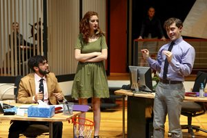 Adam Coy, Adele Fish and Dominic Martello perform in the first ever production of