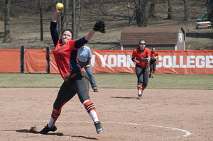 Junior pitcher AnnaMarie Gatti was Syracuse's Friday starter in her sophomore year, posting a 3.38 ERA.