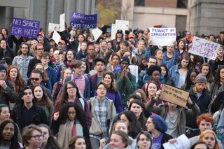 Hundreds of students marched around SU and SUNY-ESF demanding that both campuses be a safe space.